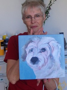 Jeanne and pet portrait